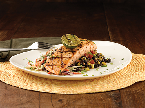 BFY: Grilled Salmon & Black Bean Salad
