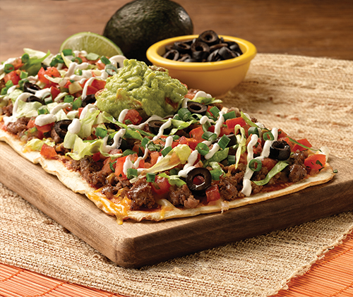 BEEF TACO FLATBREAD PIZZA